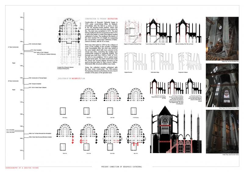 Study of Beauvais Cathedral's present structure