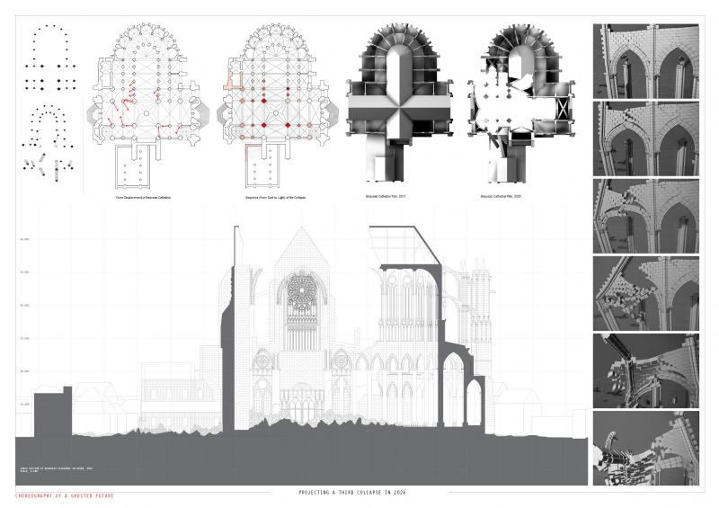 Projecting a third collapse of Beauvais Cathedral in 2026