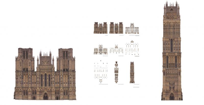 Reversing the Iconoclasm on the west facade of Wells Cathedral, to bring god down to the people. By re-ordering the last judgement hierarchy of its depictions, the cathedral takes on a vertical typology.