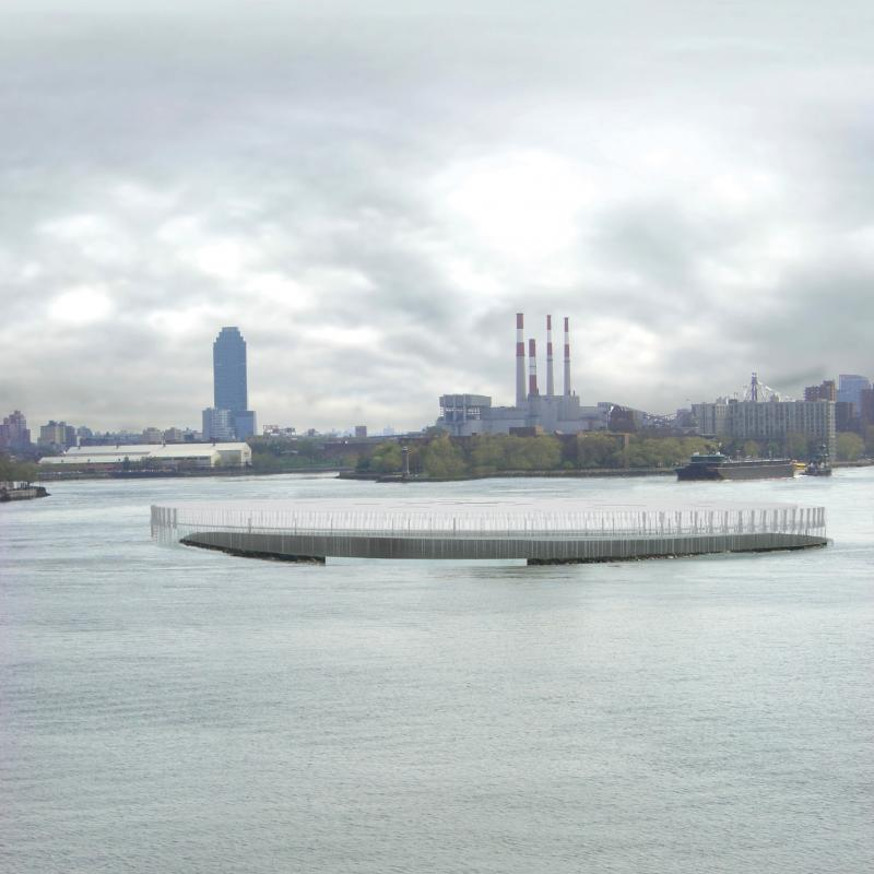Reversal delicacy sits in the the east river.  New yorkers are receiving invitations to access the island.It is an island by invitation only, exclusively for new yorkers.