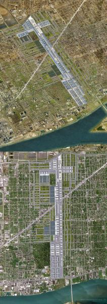 Coexistence of multiple scales of production in Detroit