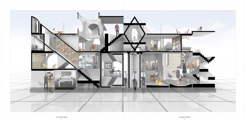 The interior constructs identity through the provision of choice. The inhabitants are empowered to construct their environment by curating architectural objects in the same way they had previously arranged their other possessions.