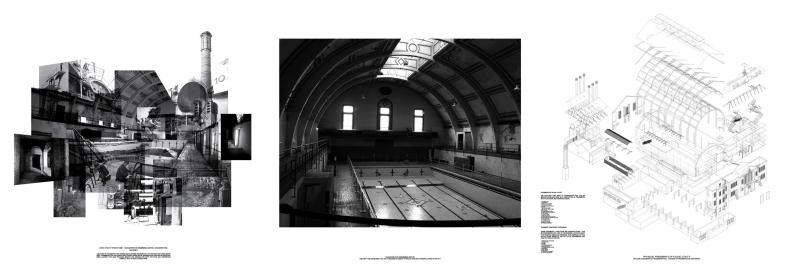 The redundant and abandoned Haggerston swimming pool - an object of speculation and projection in Hackney. A fragment of the city where ideas of conservation and  preservation have a powerful force. The empty structure becomes a framework for various suggestive programs and facilities by the residents of Hackney.