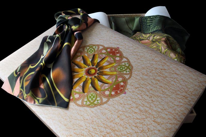 Twenty ornamental plates printed on silk.
