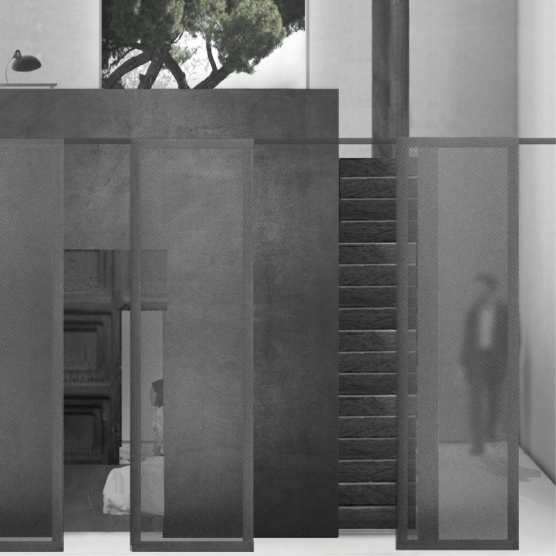 Like japanese sliding doors or shoji screens, with their degrees of opacity, the internal partitions create multiple levels of visibility and intricacy. In this way, the disposition of the internal layers in relation to the core and the external space can be controlled with a range of spatial compartments. These compartments include kitchen, bathroom, storage elements and the staircase. And beyond, the other domestic divisions of work, play and other living spaces.