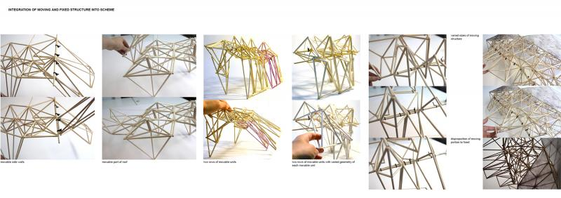 System of movable and fixed elements of the building explored through designing and making.