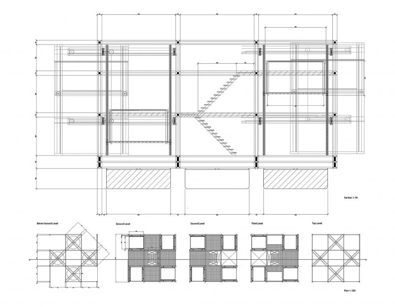 Floating Folly, version 2 plan and section