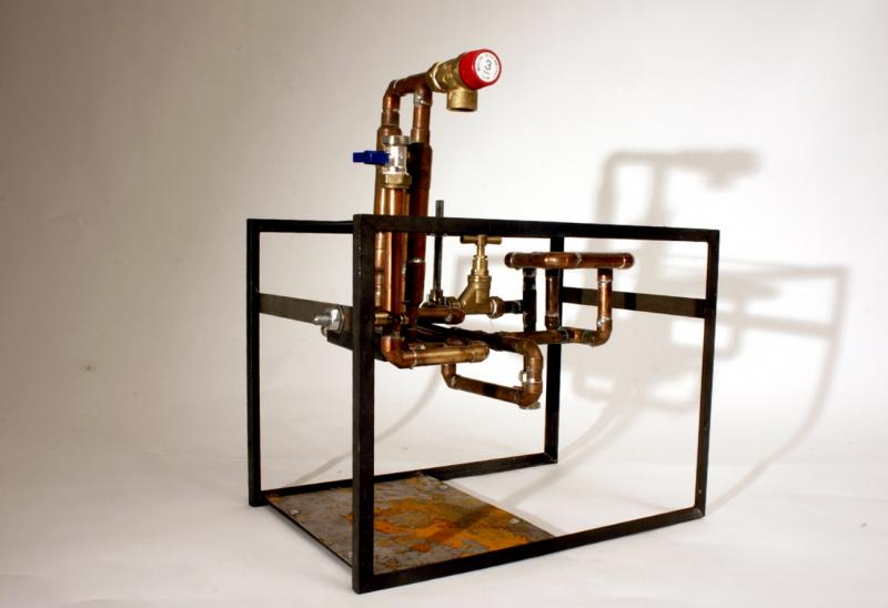 Working model of a steam boiler