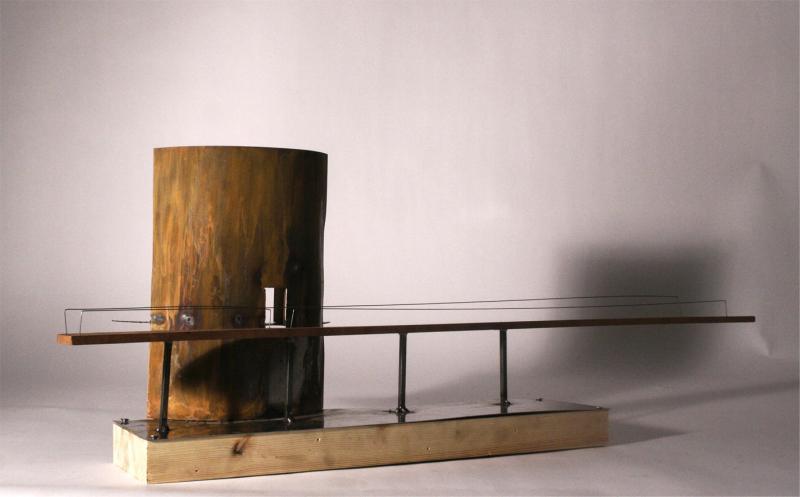 1:50 model (rusted steel, mahogany, teak)