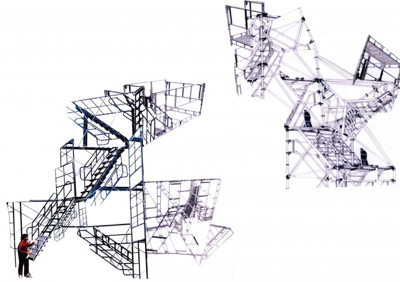 Scaffolding collages