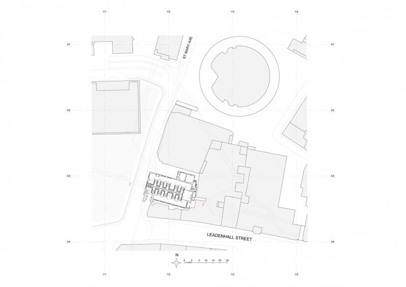 Site plan for Evacuation Church