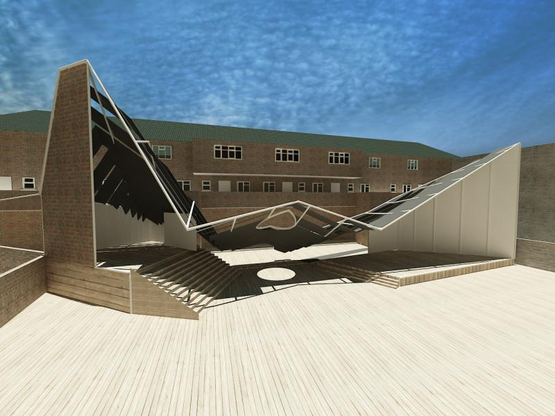 Contextualisation - 2D visualisation of proposed pavillion