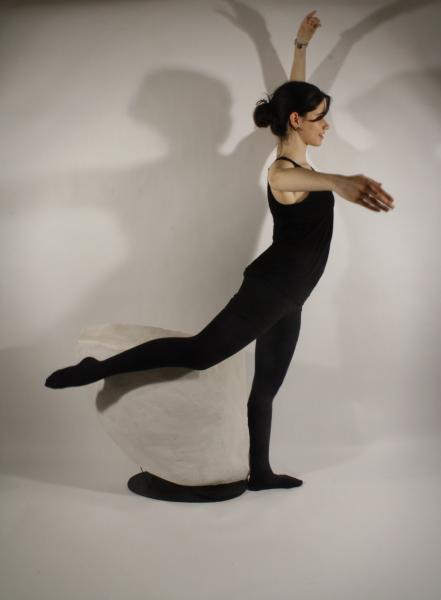 Creating positive casts from the negative spaces formed by a ballerina's movements.