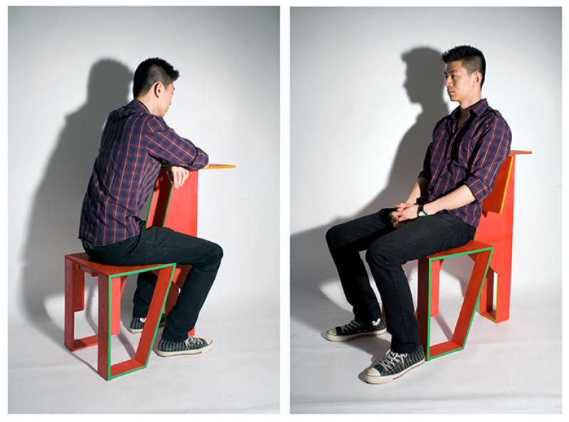 Dual-function chair with Swedish and Chinese cultural implications