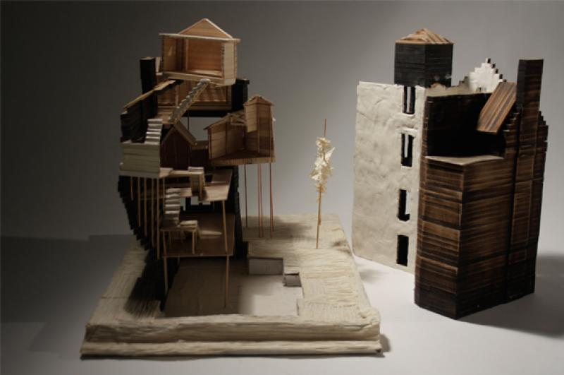 The model of the house
