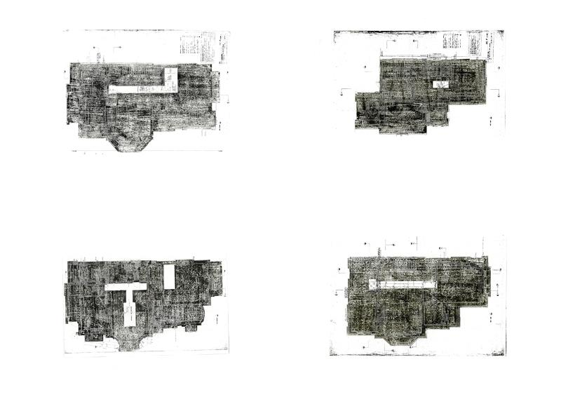 The plans of the hidden space designed for a boy, overlaid on to the Smithson's alterations of the house.